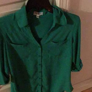 Express Kelly green Portofino blouse